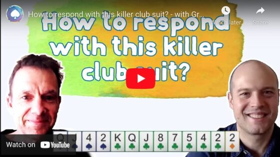 How to respond with this killer club suit?
